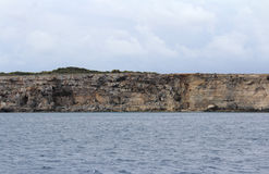 Big Rocks and Mediterranean Sea, Blue Lagoon, Gozo, Republic of Malta Royalty Free Stock Photography