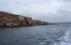 Big Rocks and Mediterranean Sea, Blue Lagoon, Gozo, Republic of Malta Stock Photography