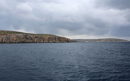 Big Rocks and Mediterranean Sea, Gozo, Republic of Malta stock photo
