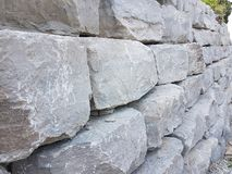Big rocks for the purpose of construction of roads and pathways royalty free stock images