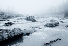 Big rocks in the river Royalty Free Stock Photos