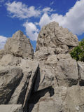 Big rocks. Big rock and blue sky in the zoo Royalty Free Stock Photo