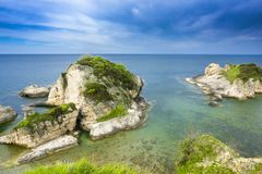 Big rocks in the sea. Beautiful landscape royalty free stock images
