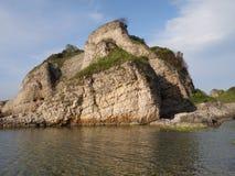 Big rocks in the sea. In a beautiful sunny day stock photo