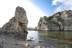 Big rocks in the sea. Beautiful landscape stock image
