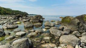 Big rocks at the shore. Of baltic sea royalty free stock photos
