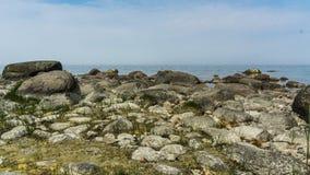 Big rocks at the shore. Of baltic sea stock photos
