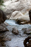 Big Rocks at Tranquil River with Clear Water. Close up Big Rocks at Tranquil River with Clear Fresh Water Stock Photography