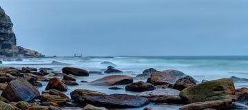 Big rocks in turimetta beach Royalty Free Stock Photography