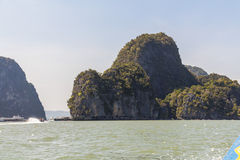 Big rocks in the water at Phang-Nga Royalty Free Stock Images