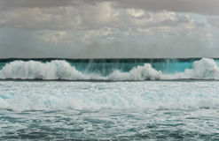 Big roller wave in a stormy day Stock Photography