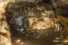 Big room inside Cango Caves in Karoo desert Royalty Free Stock Photos