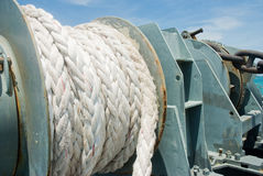 Big rope on General cargo ship Stock Photography