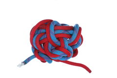 A big rope knot Royalty Free Stock Photography
