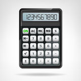 Big round black calculator object isolated vector. Illustration Stock Photography
