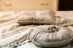 Big round pillows Stock Photos