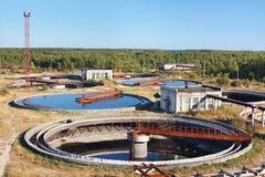 Big round sedimentation drainage royalty free stock photo