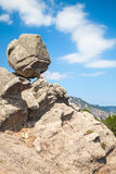 Big round stone on top of the mountain, Corsica Stock Image