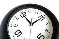 Big round wall clock fragment close-up Royalty Free Stock Images