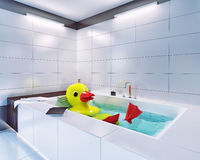 Big rubber duck Royalty Free Stock Image