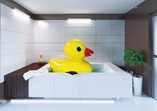 Big rubber duck Royalty Free Stock Photos
