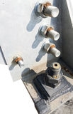 Big rusty metal nuts Stock Image