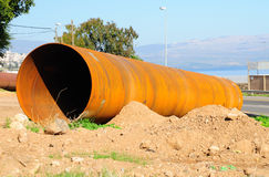 Big rusty pipe. Royalty Free Stock Photography
