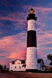 Big Sable Lighthouse at Dawn. With light on Royalty Free Stock Photos