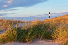 Big Sable Point Lighthouse and Dune Grass. Michiga stock images