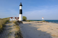 Big Sable Point Lighthouse in dunes, built in 1867 Royalty Free Stock Image