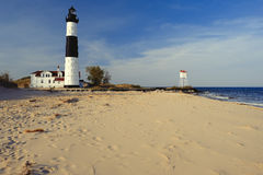 Big Sable Point Lighthouse in dunes, built in 1867 Royalty Free Stock Images