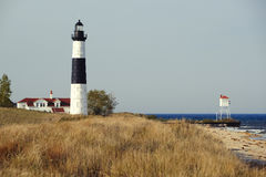 Big Sable Point Lighthouse in dunes, built in 1867. Lake Michigan, MI, USA Stock Image