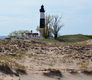 Big Sable Point Lighthouse from the Dunes Royalty Free Stock Photography