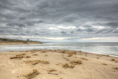 Big Sable River mouth. Big Sable River flows into Lake Michigan in Ludington State Park Stock Photography