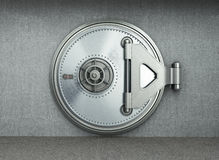 Big safe door background High resolution 3d render stock photography