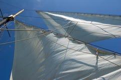 Big sail. On blue sky background Royalty Free Stock Photo