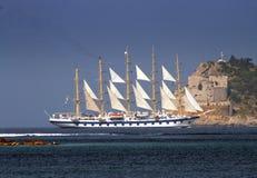 Big sail ship stock photography
