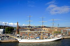 Big sailing boat in Helsinki. Finland Stock Image
