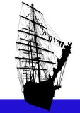 Big sailing ship Stock Photos