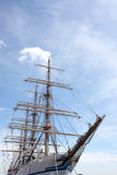 Big sailing ship. Docked at the port Royalty Free Stock Image