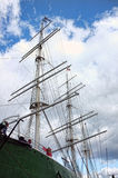 Big Sailing Ship. Under the cloudy sky Stock Image