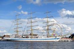 Big sailing ship in port of Szczecin Royalty Free Stock Photos
