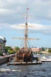 Big sailing-ship in St.Petersburg Royalty Free Stock Photo