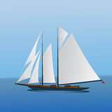 Big sailing yacht in the sea landscape Stock Photo
