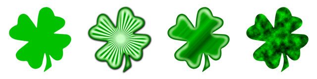 Big Saint Patrick's shamrock  Stock Image