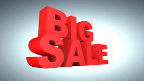 Big Sale. 3-Dimentional Text that reads Big Sale Royalty Free Stock Photos