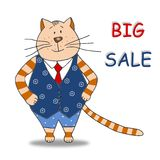 Big Sale. Colorful graphic illustration. Sale tag Stock Images