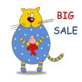 Big Sale. Colorful graphic illustration. Sale tag Royalty Free Stock Photo