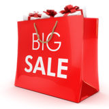 Big sale. Gift bag with gifts, Part of a series Royalty Free Stock Images