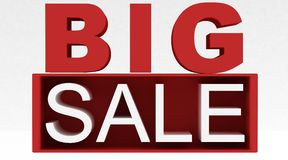 Big Sale. Generated in 3D isolated on white background Royalty Free Stock Photo